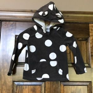 Carters 4T fleece hooded pullover with bear ears